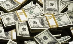 Bundles of hundred dollar notes